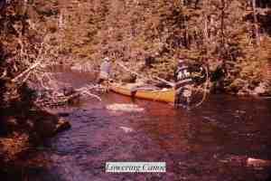 Lowering Canoe